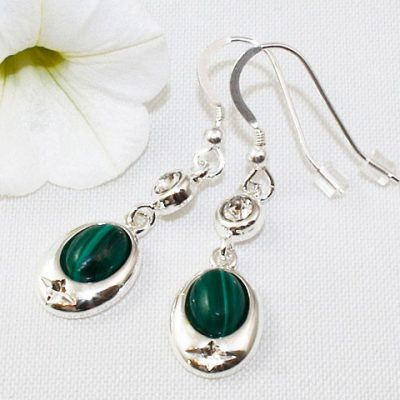 Malachite-Crystal-Accent-Earrings