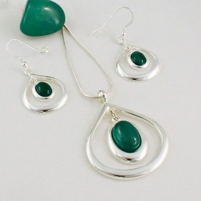 Malachite--Teardrop-Collection