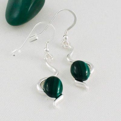 Malachite-Wiggle-Earrings