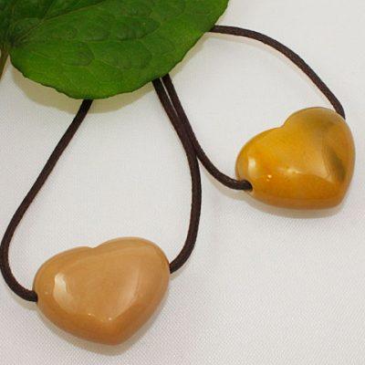 Mookite Puffed Heart Pendant