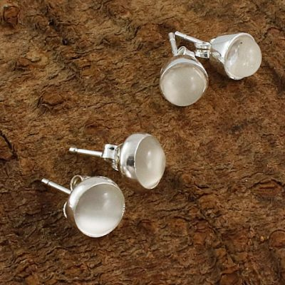 Moonstone-Stud-Earrings
