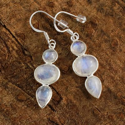 Moonstone-Triple-Stone-Earrings