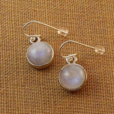 Moonstone-round-earrings