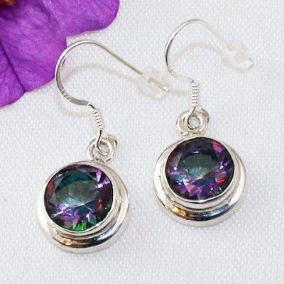 Mystic-Topaz-Round-Earrings