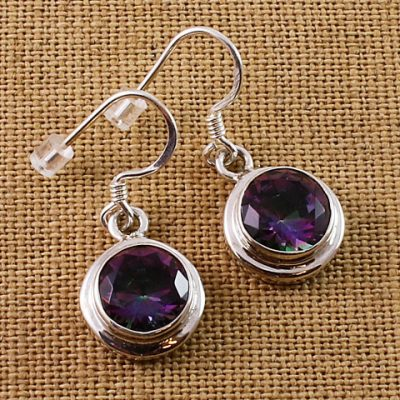 Mystic-Topaz-Round-Earrings