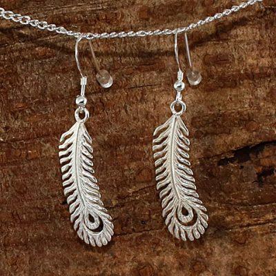 Peacock-Feather-Earrings