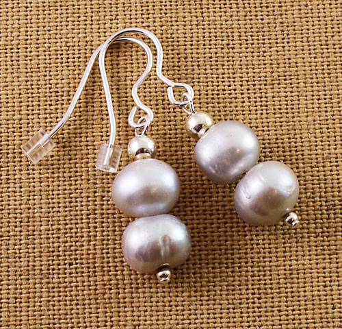 Pearl-silver-double-bead