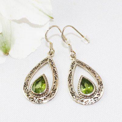 Peridot-Open-Teardrop-Earrings
