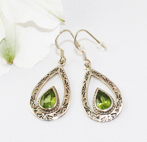 Peridot-Open-Teardrop-Earrings