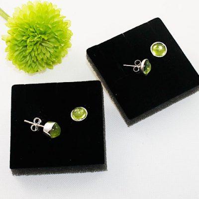 Peridot-Stud Earrings