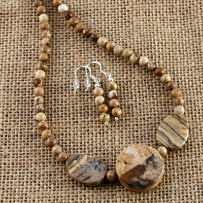 Picture-Jasper-Beaded-Set