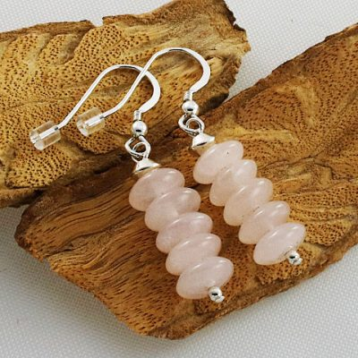 Rose-Quartz-Disc-Earrings