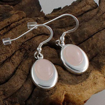 Rose-Quartz-Offset-Oval-Earrings