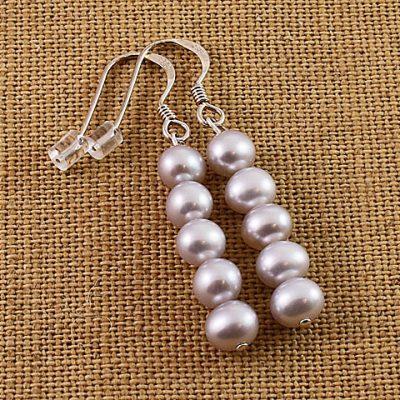 Silver-pearl-earrings