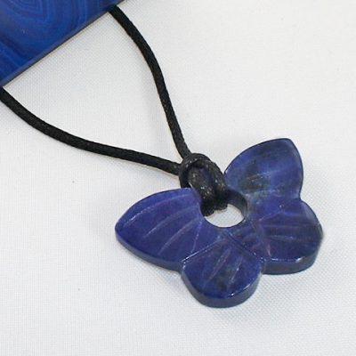 Sodalite-Butterfly Pendant