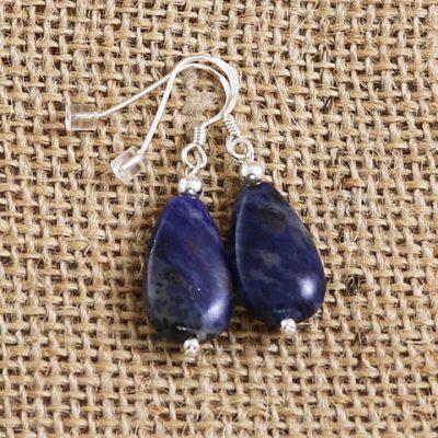 Sodalite-Tear-Earrings