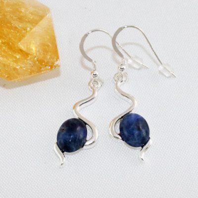 Sodalite-Wiggle-Earrings