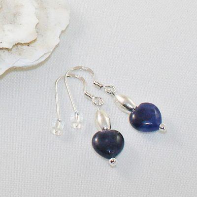 Sodalite-dainty-heart-earrings