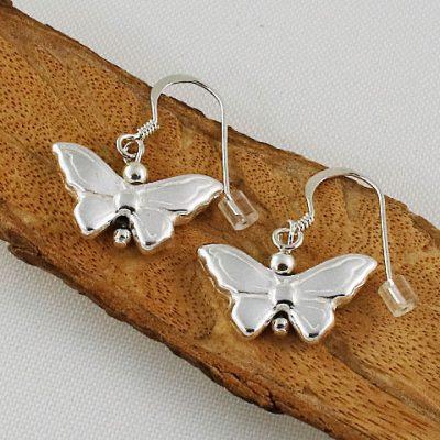 Sterling-Silver-Butterfy Earrings