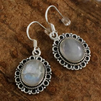 Sterling-Silver-Moonstone-Earrings