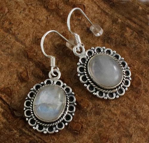 Sterling-Silver-Moonstone-Earrings