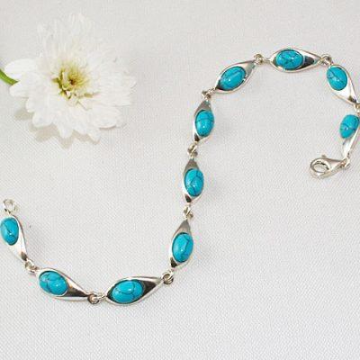 Sterling-Silver-Turquoise-Bracelet
