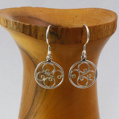 Sterling Silver Swirls Earrings