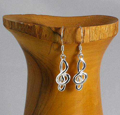 Treble-Clef Earrings