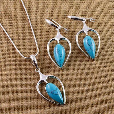 Turquoise-Inverted-teardrop-set