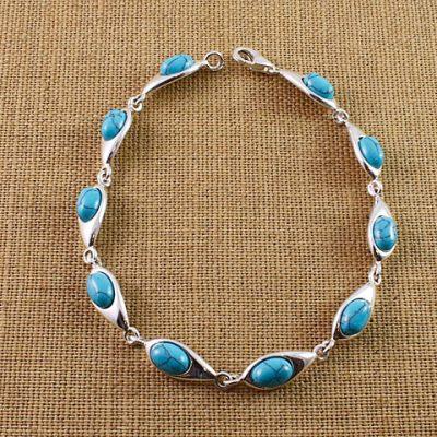 Turquoise-Oval-Stone-Bracelet