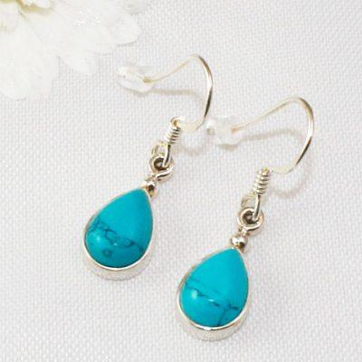 Turquoise-Small-Teardrop-Earrings