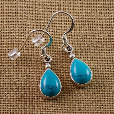 Turquoise-Small-Teardrop-Earrings