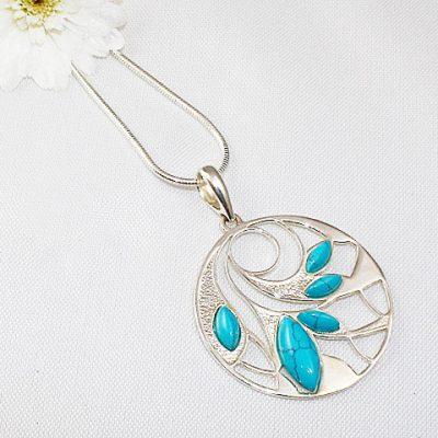 Turquoise-Swirl-Multi-Stone-Pendant.