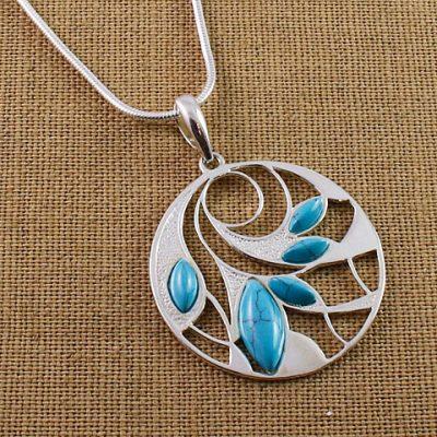 Turquoise-multi-pendant