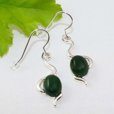 Jade Wiggle Earrings