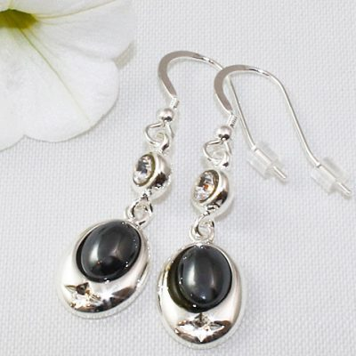 With-Crystal-Earrings-Hematite